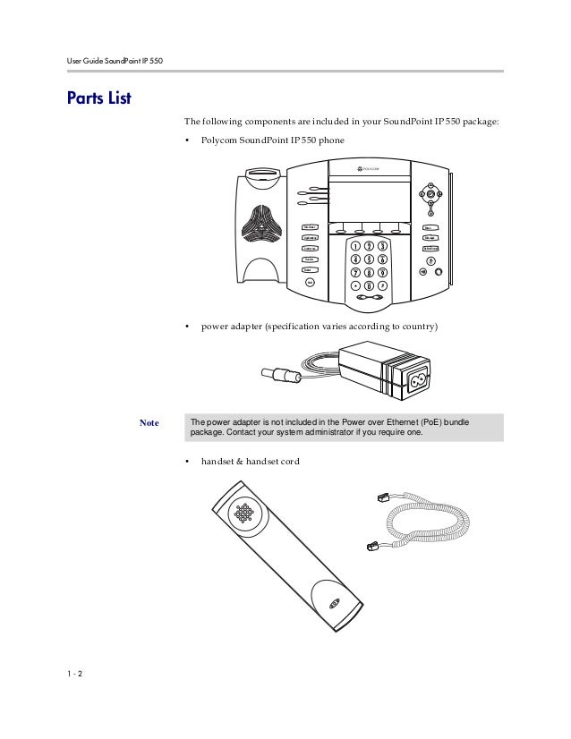 Polycom soundpoint ip550 user guide
