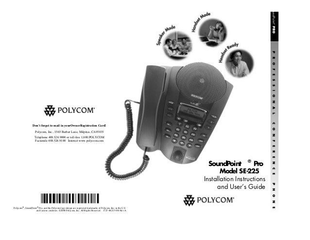 Polycom soundpoint pro user guide