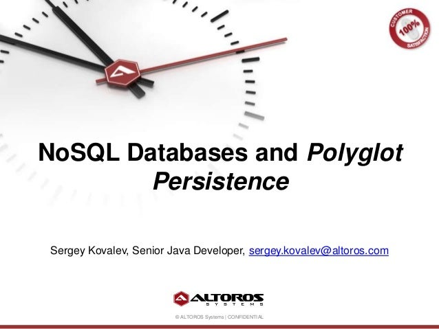 «NoSQL Databases and Polyglot Persistence»