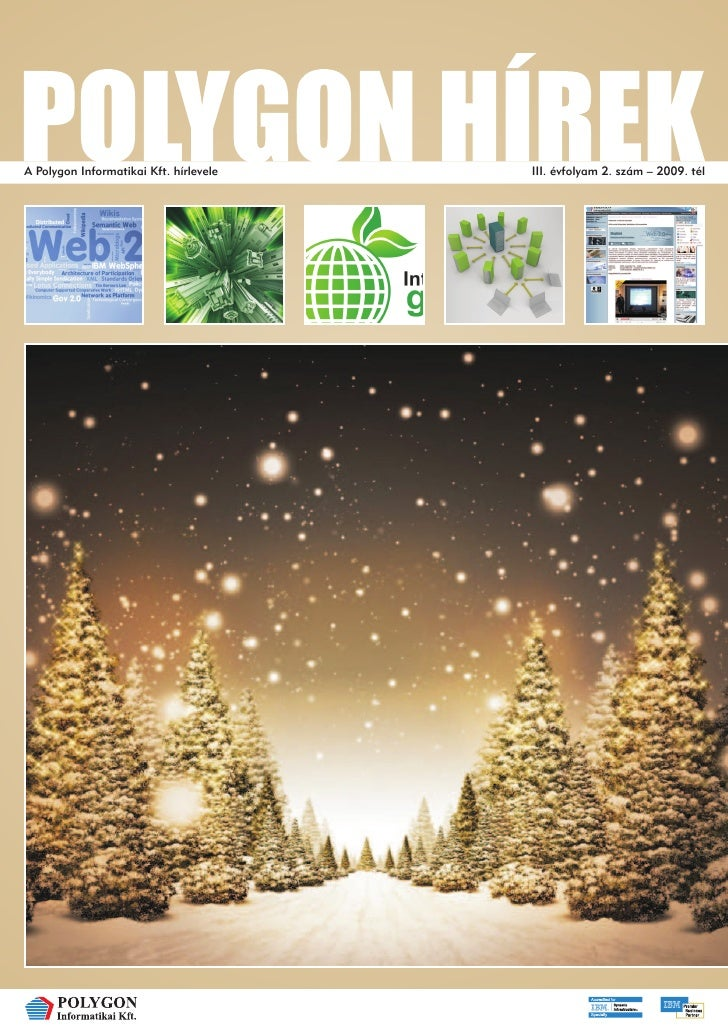 A Polygon Informatikai Kft. hírlevele   III. évfolyam 2. szám – 2009. tél