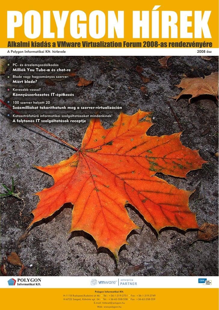 Polygon Hírek II. évfolyam 2. szám 2008 VMware