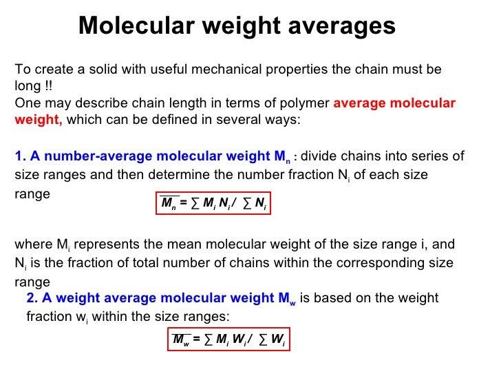N Molecular Weight Polymer Course