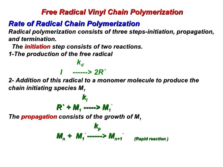 free radical polymerization of styrene using Free-radical polymerization of styrene in emulsion using a reversible addition−fragmentation chain transfer agent with a low transfer constant: effect on rate, particle size, and molecular weight michael j monteiro , and jean de barbeyrac.