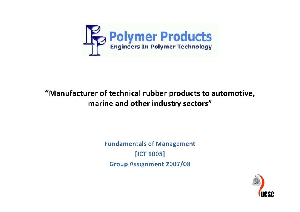 """Manufacturer of technical rubber products to automotive,           marine and other industry sectors""                    ..."