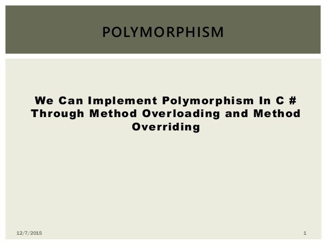 how to achieve polymorphism in c
