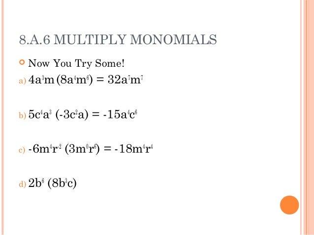 math worksheet : polynomials : Monomial Multiplication Worksheet