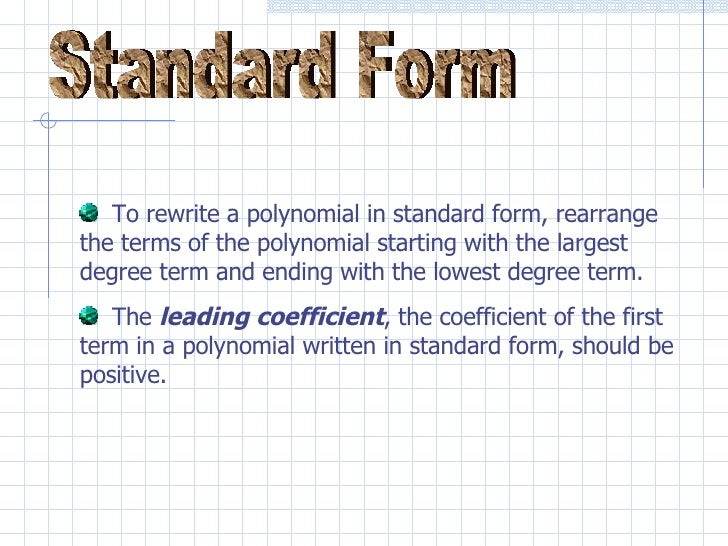 polynomials add and subtract ch 9 1