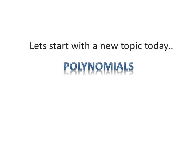 Polynomials1