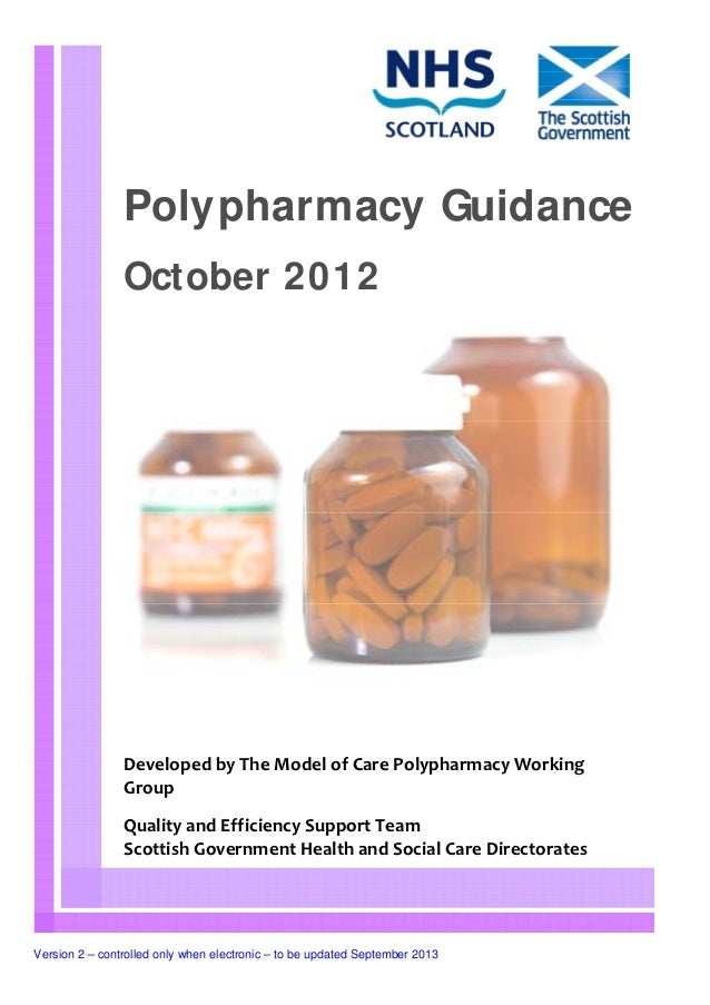 Polypharmacy Guidance                October 2012                Developed by The Model of Care Polypharmacy Working      ...