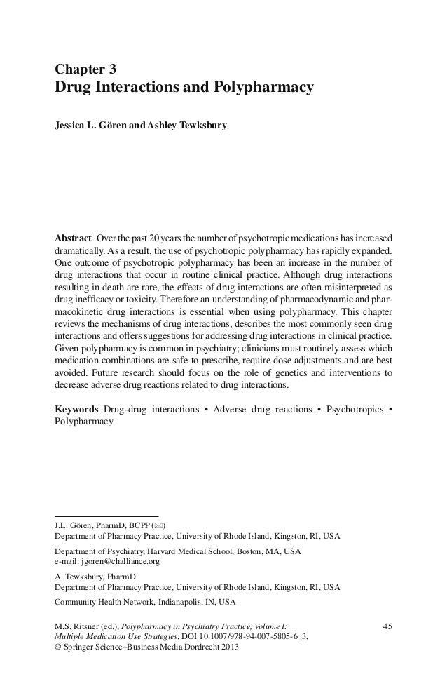45M.S. Ritsner (ed.), Polypharmacy in Psychiatry Practice, Volume I:Multiple Medication Use Strategies, DOI 10.1007/978-94...