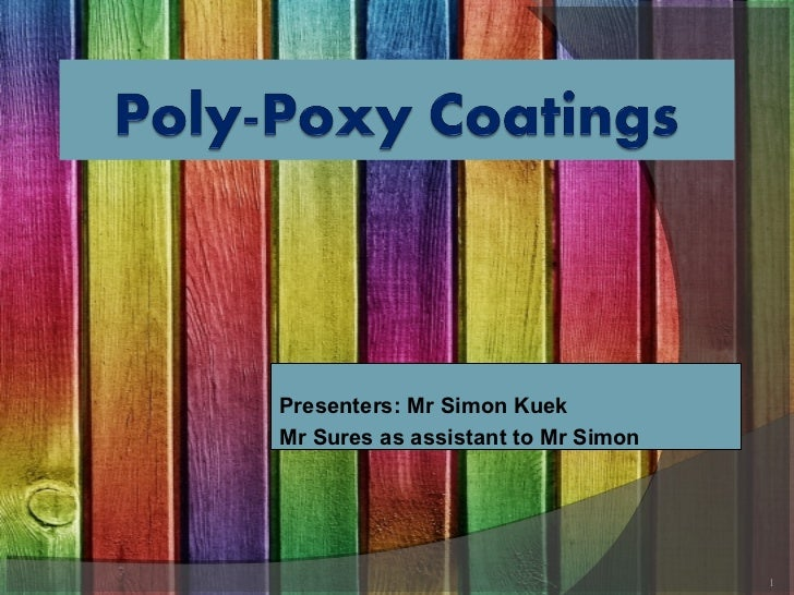 Poly poxy coatings presentation