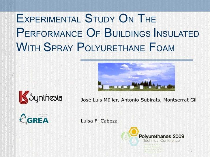 Polyurethane foam insulation
