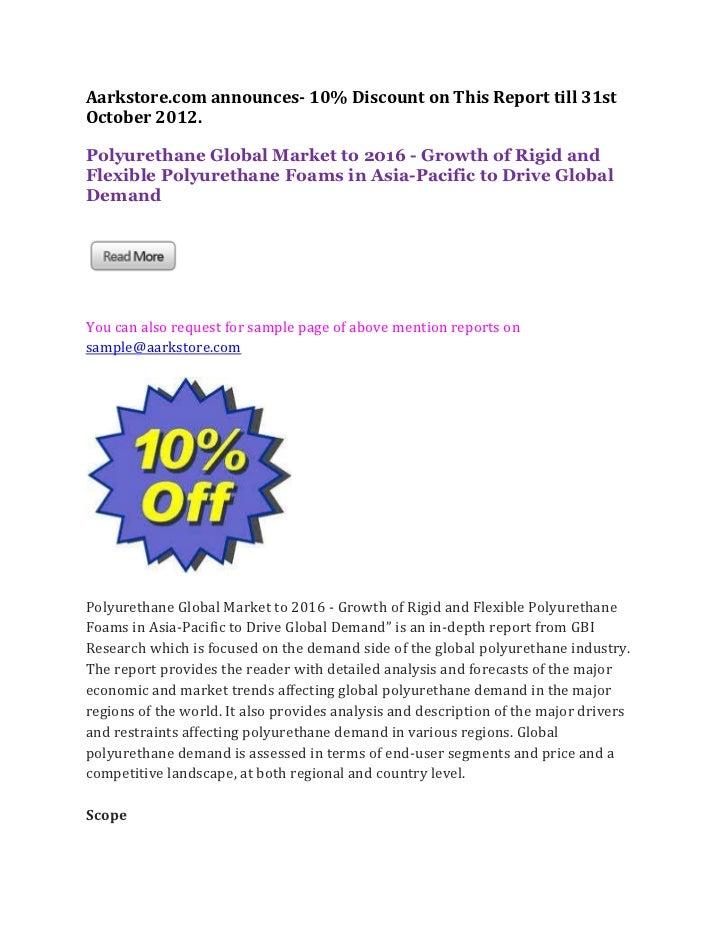 Polyurethane global market to 2016   growth