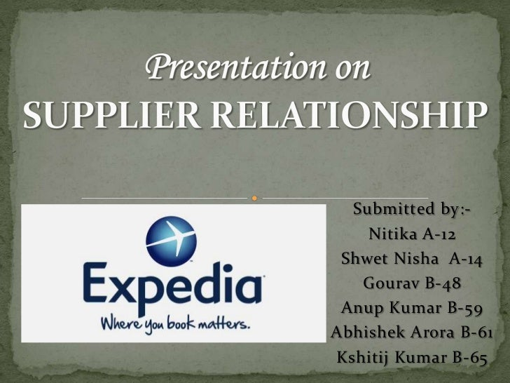 Presentation on SUPPLIER RELATIONSHIP<br />Submitted by:-<br />Nitika A-12<br />ShwetNisha  A-14<br />Gourav B-48<br />Anu...