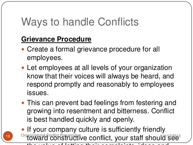conflict should be resolved quickly pdf