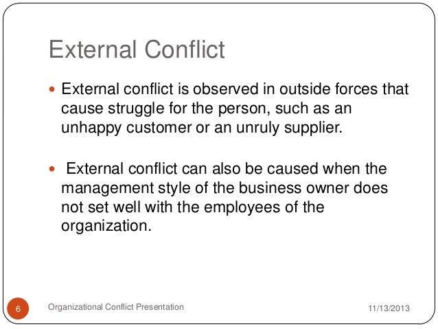 organization conflict example