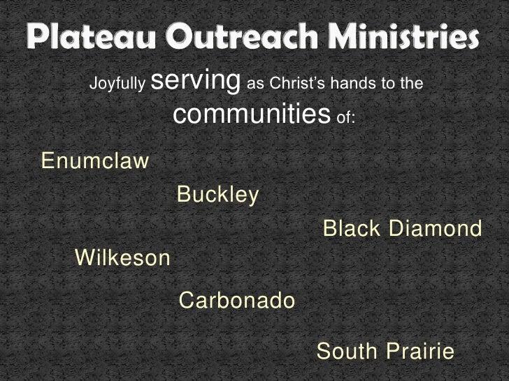 Plateau Outreach Ministries