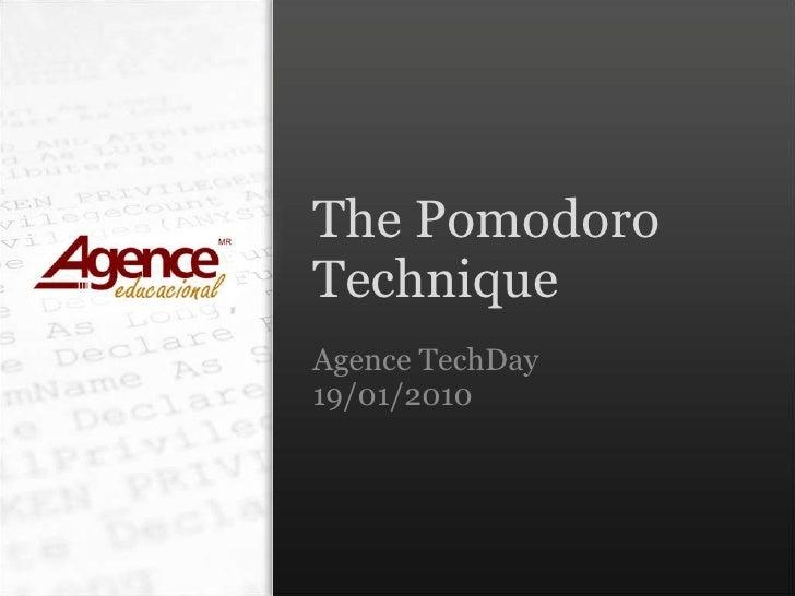 The Pomodoro Technique Agence TechDay 19/01/2010