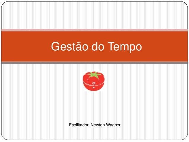 Gestão do Tempo  Facilitador: Newton Wagner