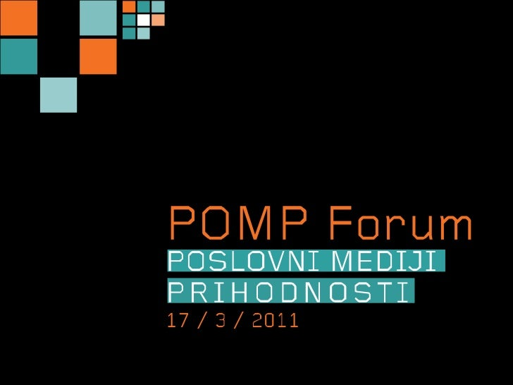 POMP Forum 2011: Primož Inkret in Vesna Krebs