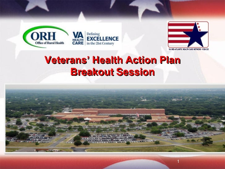 Veterans' Health Action Plan     Breakout Session                           1