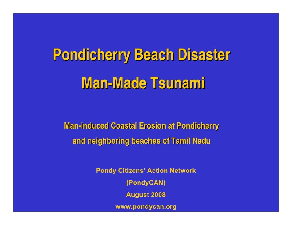 Pondicherry Tamil Nadu Beach Erosion