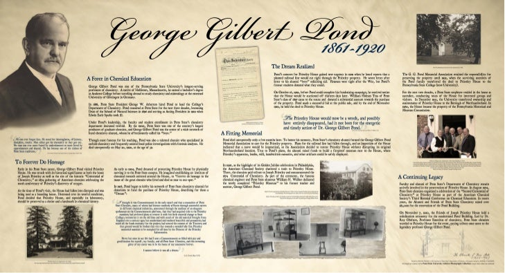 George Gilbert Pond and the Preservation of Priestley House