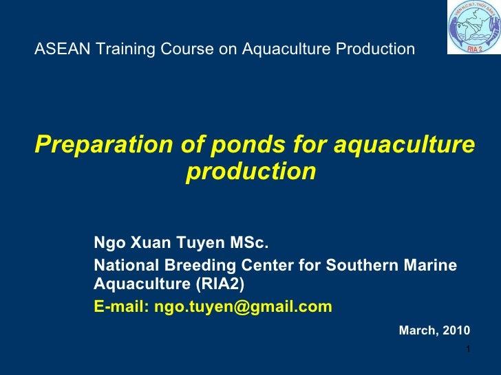 Pond Preparation 11 3 2009 Tuyen Nx