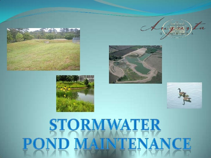 Stormwater <br />Pond Maintenance<br />