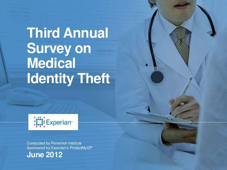 Ponemon Institute Medical Identity Theft Study