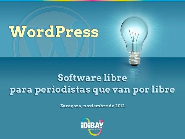 WordPress para periodistas que van por libre