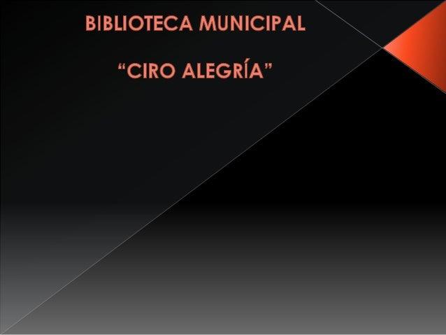 """ACTIVIDADES CULTURALES DE LA BIBLIOTECA MUNICIPAL """"CIRO ALEGRÌA"""""""