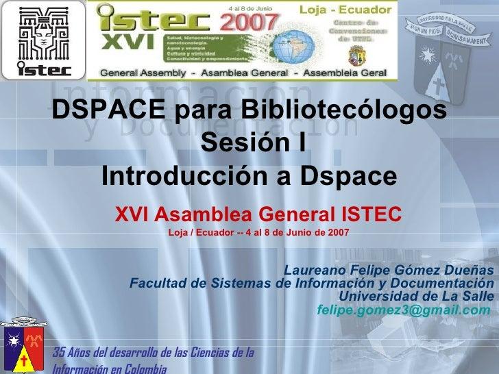 Ponencia Dspace Istec
