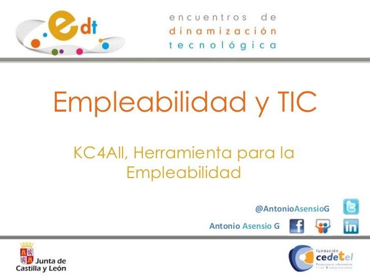 Ponencia  Empleabilidad y Tic -oct 2011