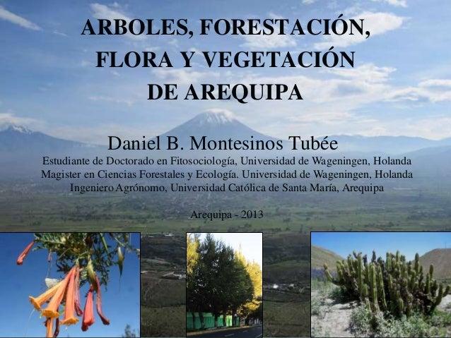 Seminario Desarrollo Sostenible y Forestación - Ponencia Forestación y Flora Adecuada para la ciudad de Arequipa.