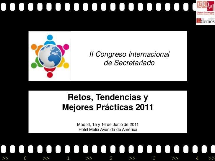 II Congreso Internacional                              de Secretariado               Retos, Tendencias y              Mejo...
