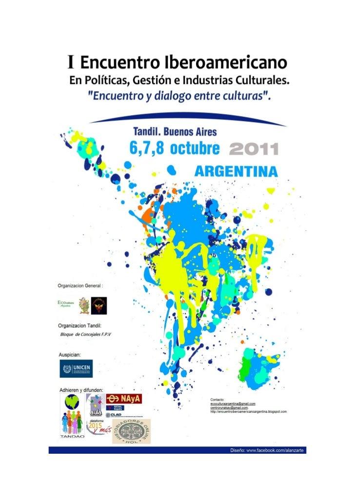 Ponencia argentina Iberoamericano