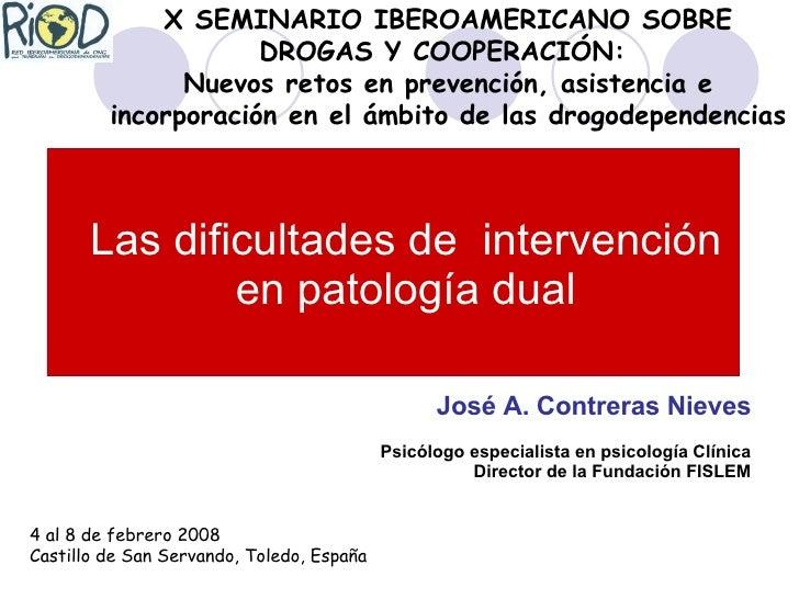 Intervención en patologia dual