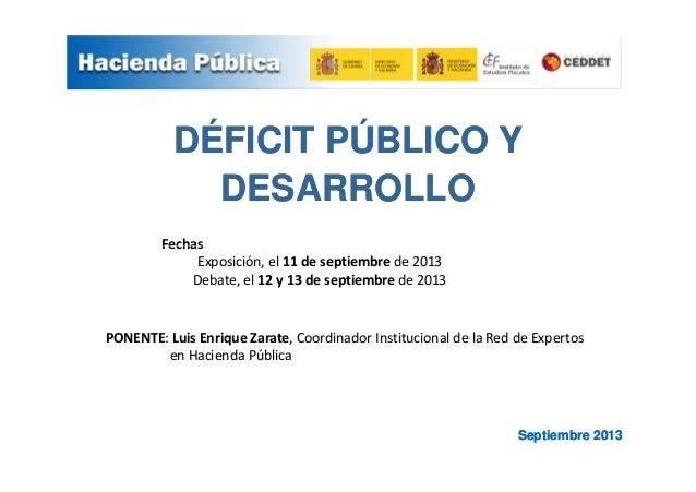 Ponencia deficit publico y desarrollo