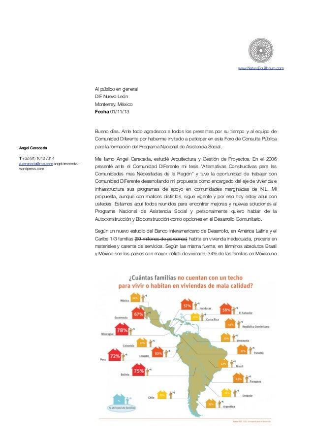 www.NaturaEquilibrium.com  Al público en general DIF Nuevo León Monterrey, México Fecha 01/11/13  !  Bueno días. Ante todo...