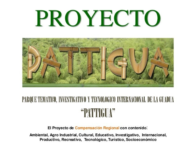 PROYECTO PATTIGUA  El Proyecto de Compensación Regional con contenido: Ambiental, Agro Industrial, Cultural, Educativo, In...