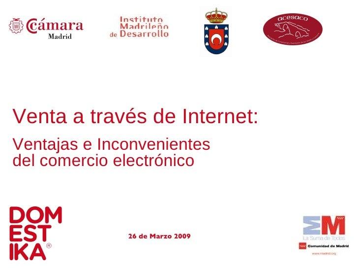 Ponencia Imade Domestika Venta En Internet 26marzo09