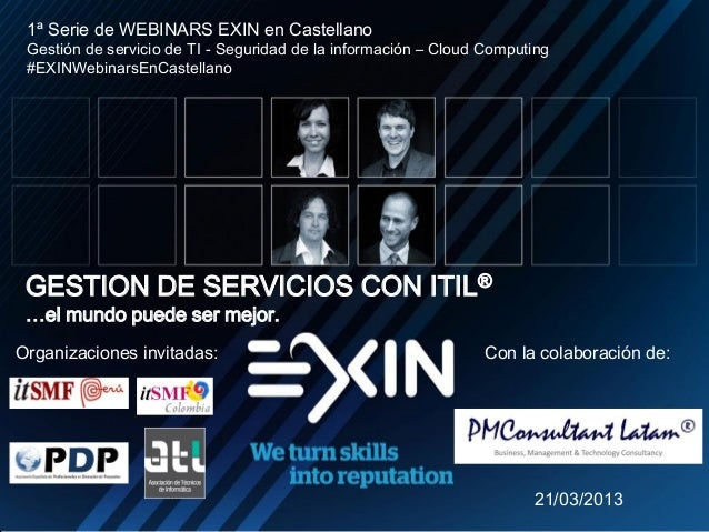 11º Webinar EXIN en Castellano: Gestión de Servicios con ITIL (r)