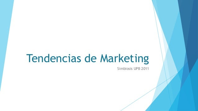 Tendencias de Marketing