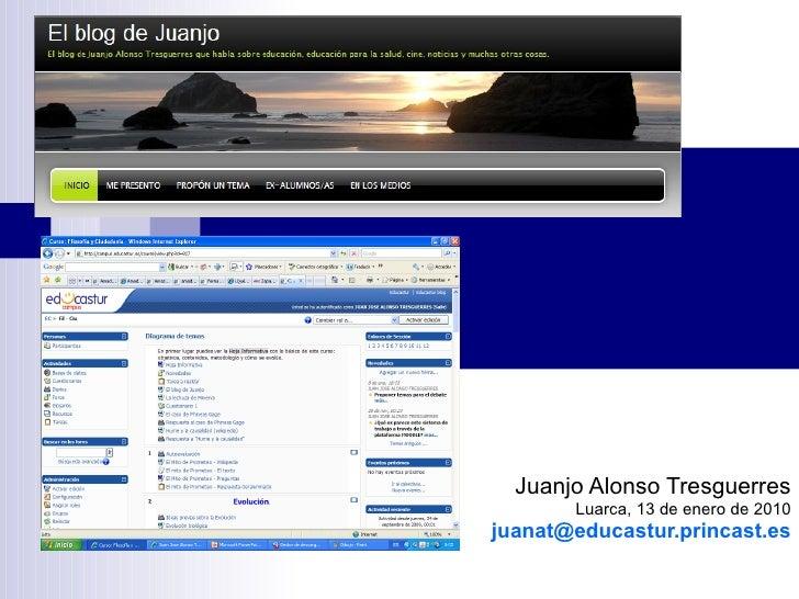Ponencia Sobre El Blog En El Instituto De Luarca