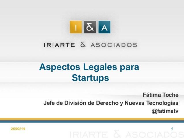 Fatima Toche - Aspectos legales para chicas en tecnología