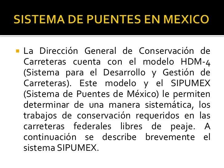 Sistemas de Puentes en México SIPUMEX