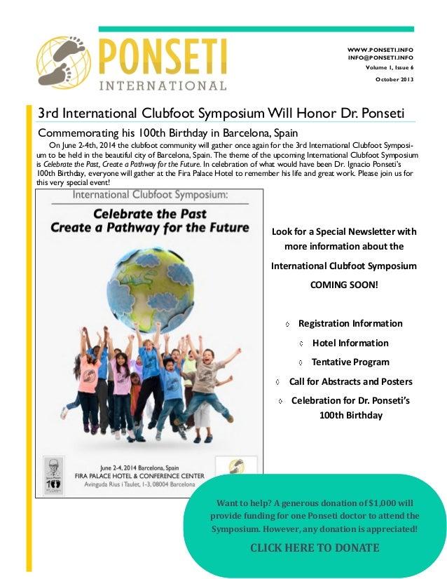 Ponseti PIA Newsletter Outubro 2013