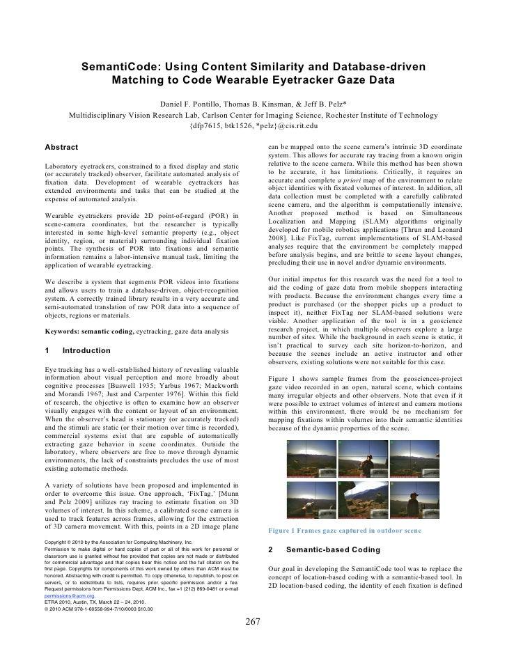 Pontillo Semanti Code Using Content Similarity And Database Driven Matching To Code Wearable Eyetracker Gaze Data