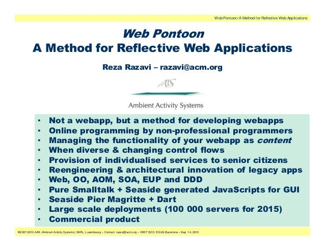 Web Pontoon: A Method for Reflective Web Applications                                                                     ...